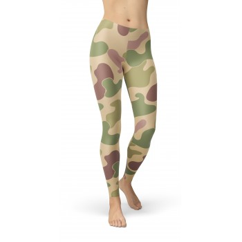 Camouflage Jungle Pattern Camo Leggings