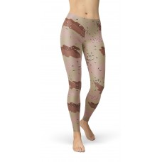 Camouflage Chocolate Chip 77 Pattern Camo Leggings