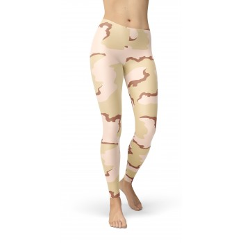 Camouflage Coffee Stain 91 Pattern Camo Leggings