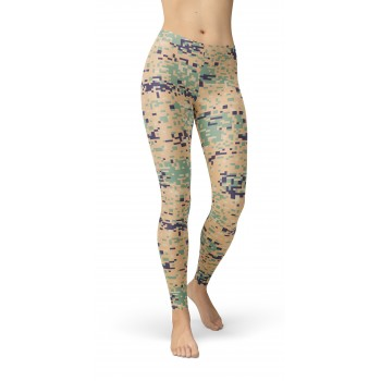 Camouflage Marpat Woodland Pattern Camo Leggings