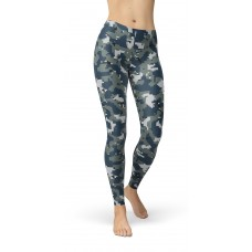 Camouflage Navy Pattern Camo Leggings
