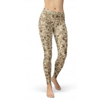 Camouflage NWU Desert Pattern Camo Leggings