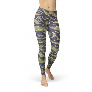 Camouflage Tiger Stripe Vietnam 1 Pattern Camo Leggings