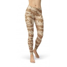 Camouflage Desert Tiger Stripe Pattern Camo Leggings