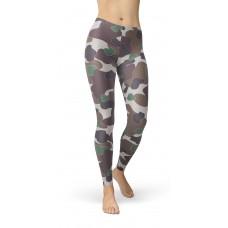 Camouflage Dark Brown WW2 Pattern Camo Leggings