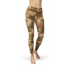 Camouflage Earth Brown WW2 Pattern Camo Leggings