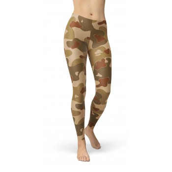Camouflage Earth Brown WW2 Pattern Camo Leggings