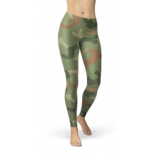 Camouflage Jungle Green Pattern Camo Leggings