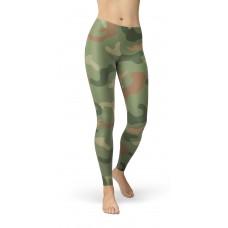 Camouflage Jungle Green Pattern Camo Leggings