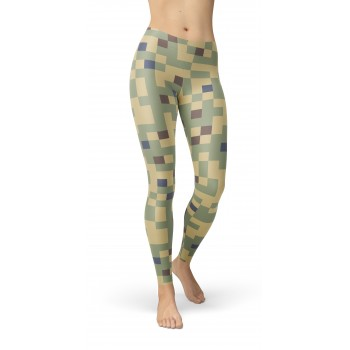 Camouflage Duel Tex 77 Pattern Camo Leggings