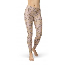 Camouflage Woodland 80s Pattern Camo Leggings