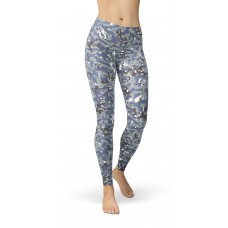 Camouflage NWU Grey Pattern Camo Leggings