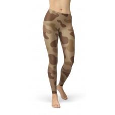 Camouflage Jungle Brown Pattern Camo Leggings