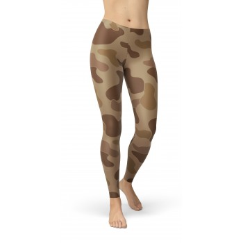 Camouflage Jungle Brown Pattern Camo Leggings