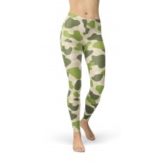 Camouflage Jungle Green Parachute Pattern Camo Leggings