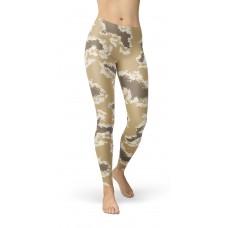 Camouflage Jungle Brown Parachute 50s Pattern Camo Leggings