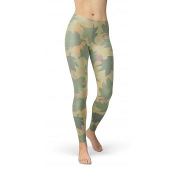 Camouflage Wine Leaf Pattern Camo Leggings