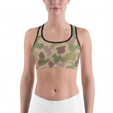 Camouflage Jungle Pattern Camo Sports Bra