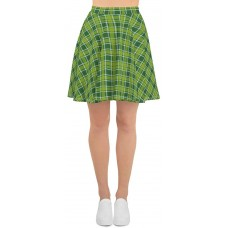 Plaid & Check Skater Skirt St Patty's Day Green Within Green