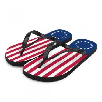 Betsy Ross Flag Flip-Flops