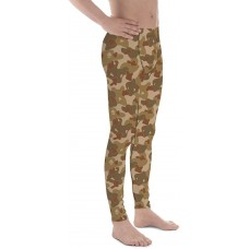 Camouflage Pattern Earth Brown WW2 Experimental Men's Camo Leggings