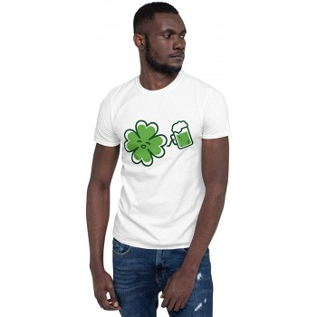 Happy Clover Drinking Beer T-Shirt