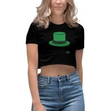 St. Patty's Day Drunkish Hat Women's Crop Top