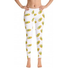 Lucky Coins with 4 Leaf Clovers Leggings