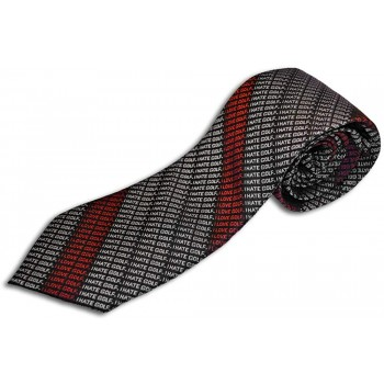 I Hate Golf Neck Tie I Love Golf 100% Silk Woven Funny Necktie