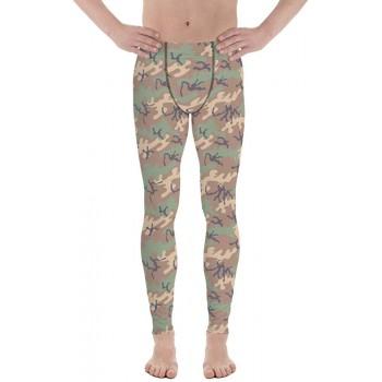 Camouflage Pattern Jungle 1968 Men's Camo Leggings