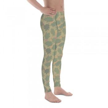 Camouflage Pattern Wine Leaf 1953 Men's Camo Leggings