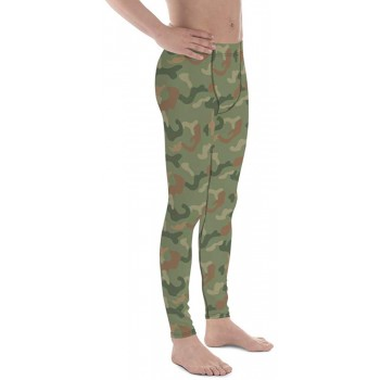 Camouflage Pattern Jungle 2 Green Men's Camo Leggings
