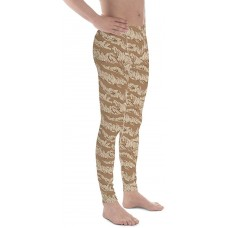 Camouflage Pattern Desert Tiger Stripe Iraq Men's Camo Leggings