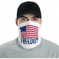 Betsy Ross USA Flag Neck Gaiter, Headband Neck Warmer