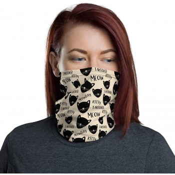 Meow Kitty Cat Takeover Neck Gaiter, Headband, Neck Warmer