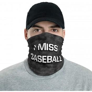 I Miss Baseball Neck Gaiter, Headband, Neck Warmer