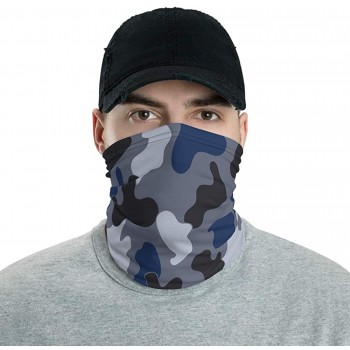 Jungle Blue & Black Camo Neck Gaiter, Headband, Neck Warmer