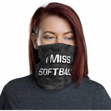 I Miss Softball Neck Gaiter, Headband, Neck Warmer