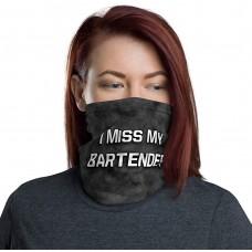 I Miss My Bartender Neck Gaiter, Headband, Neck Warmer