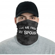 Save Me From My Spouse Funny Neck Gaiter, Headband, Neck Warmer