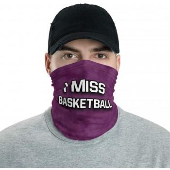 I Miss Basketball Neck Gaiter, Headband, Neck Warmer