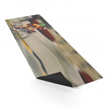 """Cyclist Yoga Mat """"Bicycle Ride Through The City"""""""
