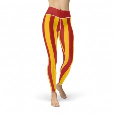 Red and Yellow Vertical Striped Leggings (Spain)