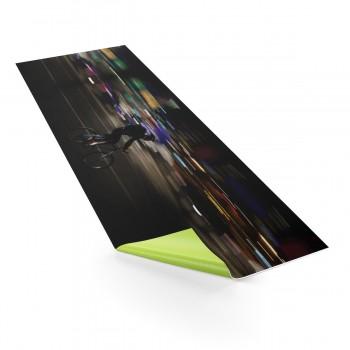"""Cycling Yoga Mat """"Cycling The City at Night"""""""