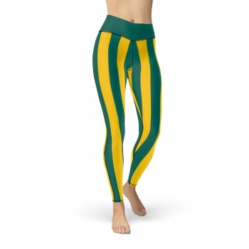 Green and Yellow Vertical Striped Leggings (Australia)