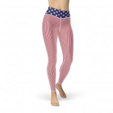 Stars & Striped Leggings Cut & Sew Sport Americana Leggings