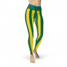Green and Yellow Vertical Striped Leggings (Brazil)