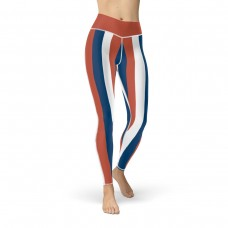 Blue, Red and White Vertical Striped Leggings (Serbia)