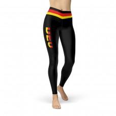 Germany Black Leggings with German Flag Waistband Cut & Sew Sport Leggings