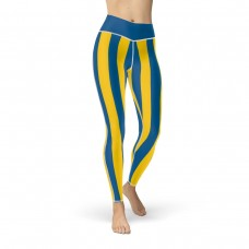 Blue and Yellow Vertical Striped Leggings (Sweden)